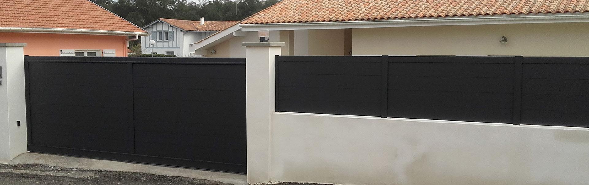 cloture aluminium pleine slider ez fermetures. Black Bedroom Furniture Sets. Home Design Ideas